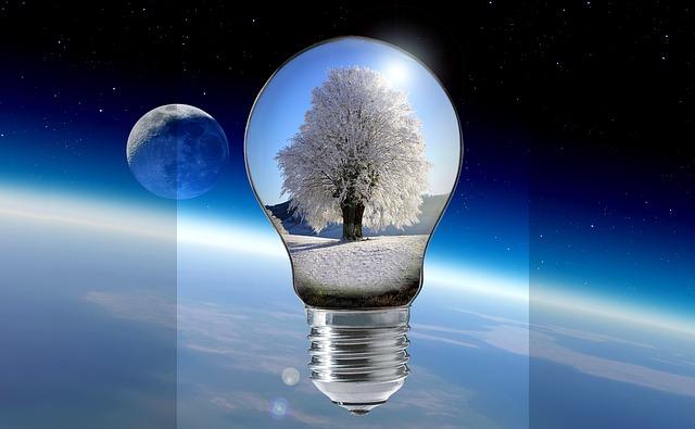 žárovka ve vesmíru