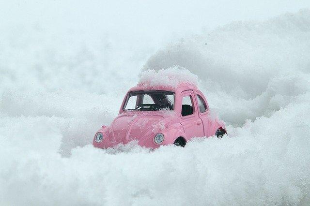 brouk vw ve sněhu