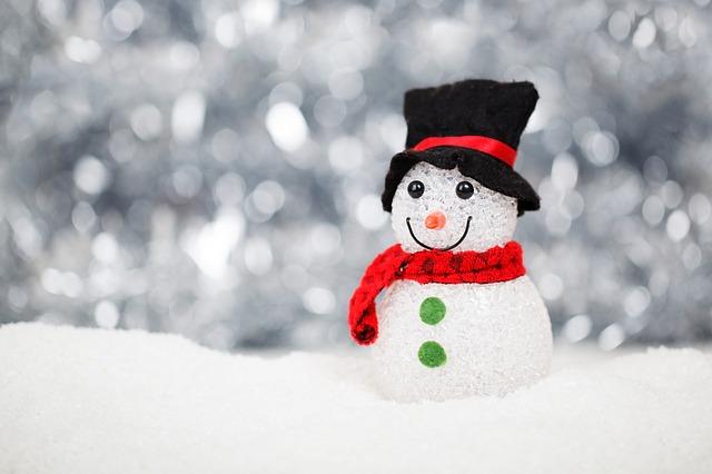 dekorační sněhulák